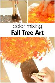 Color Mixing Fall Tree Craft For Kids Autumn Art Project Preschool Kidsactivities