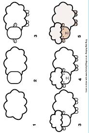 Coloriage à Dessiner Troupeau De Mouton