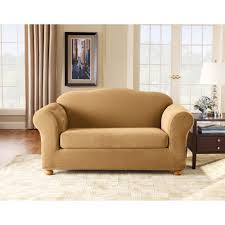 Sure Fit Stretch T Cushion Sofa Slipcover by Amazon Com Sure Fit Stretch Pique Sofa Slipcover Antique Home