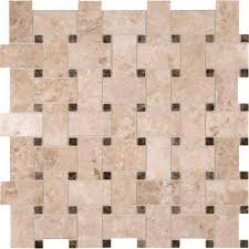basketweave mosaic tile tile the home depot