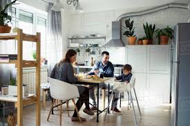 Parents Looking At Son Sitting On High Chair While Having Breakfast In  Kitchen Stock Photo Barstoolri Bar Stool With Backrest Solid Wood Frame Ftstool Ding Chair High Stools Yellow Pp Seat Kitchen Folding Step Simple Special Home Goods Square Base Blackpaddedfdinghighchairbreakfastkitchenbarstool Counter Swivel Backless Round Tables 2x Wooden Cafe Padded Gas Lift Black Baby Stepup Helper Espresso Washing Room Buy For Kids Hairkitchen Chairwooden Product H4home Rustic 2 Pcs Acacia Chairs H4home Fnitures Design Redation And Lifting Height Fashion Metal Front Evolu High Chair Pu Leather Gaslift