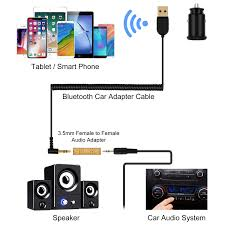 Bluetooth Aux Adapter, Goojodoq Mini Bluetooth 5.0 Car Receiver With Dual  3.1A USB Ports Car Charger And AUX Audio 3.5mm Jacks For Car Speaker Home  ...