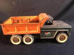 100 Antique Metal Toy Trucks STRUTCO VINTAGE METAL TOY TRUCK WITH HYDRAULIC LOADED BED BROKEN