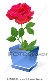 dessins fleur dans pot k3709264 recherche de