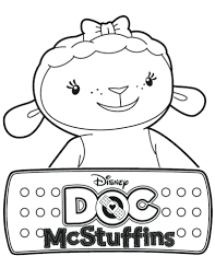 Doc Mcstuffins Coloring Pages Disney Lamb Page Colouring To Print