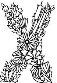 Coloring Page Alphabet Flowers Kids N Fun