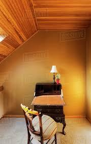 100 Wooden Ceiling Antique Desk Under Sloped Wooden Ceiling D145_27_827