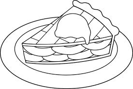 Pie clipart coloring 4