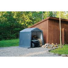 Home Depot Shelterlogic Sheds by Amazon Com Shelterlogic Shed In A Box With Auger Anchors Peak