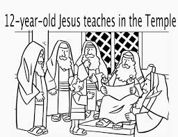 Boy Jesus Teaching In The Temple 12 Years Old Coloring Pagejpg New Page