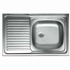 details zu edelstahl 1 becken küchenspüle aufsatzspüle küchen spüle spülbecken 80x50 cm