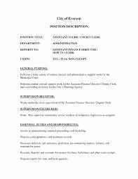 deputy clerk resume exles of descriptions for resumes