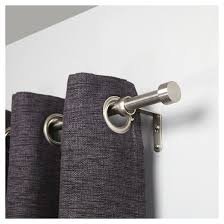 Target Curtain Rods Bronze by Dauntless Curtain Rod Set Brushed Nickel 1