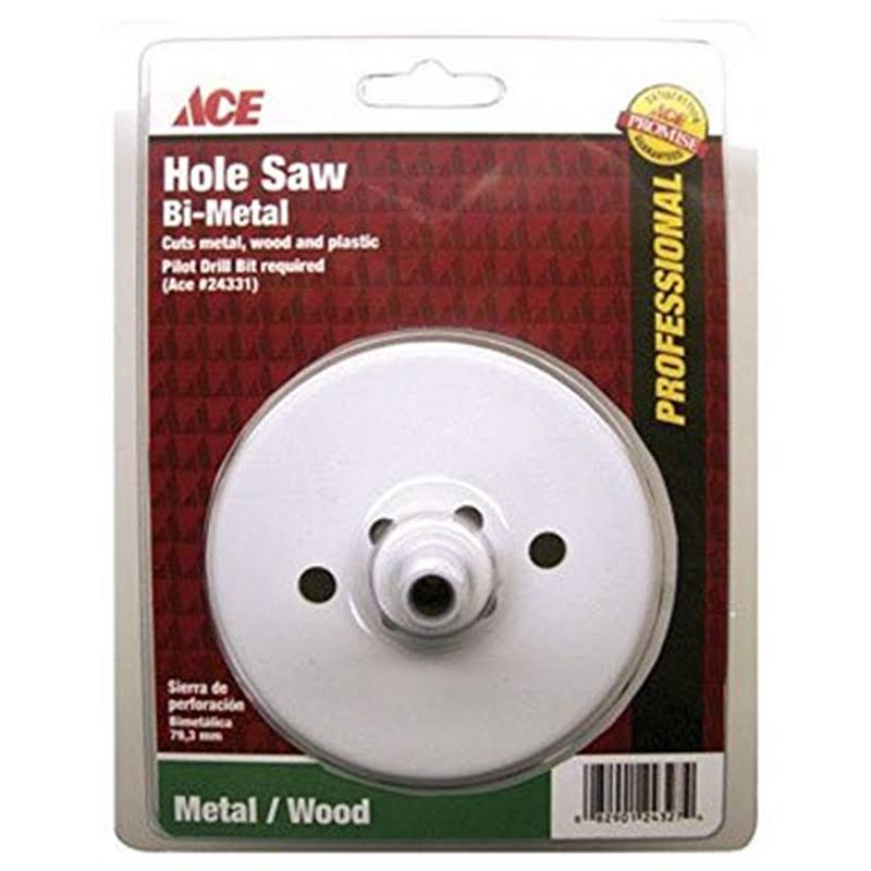 Ace Hole Saw, Bi-Metal, 4 Inches