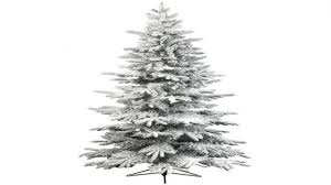 Flocked Artificial Christmas Trees Uk by Artificial Flocked Christmas Tree Christmas Lights Decoration