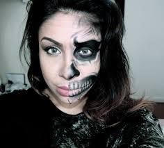 Halloween Half Mask Makeup by How To Half Human Half Skull Face Halloween Makeup Tutorial Youtube