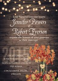 Rustic Romantic Cheap Light Mason Jar Fall Wedding Invitation Glaminvite