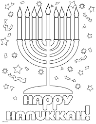 Seasonal Happy Hanukkah Coloring Pages For Kids Printable