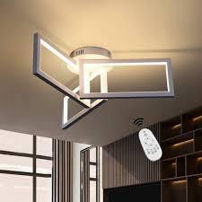 zmh led deckenleuchte deckenle dimmbar modern weiße 70w quadrat design aus metall und silikagel für wohnzimmer esszimmer kaufen otto