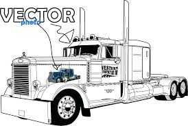 Amazing Coloring Pages Of Semi Trucks Thanksgiving Preschool Truck ...