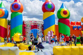 Halloween Theme Park Texas by World U0027s Largest Bounce House Coming To San Antonio San Antonio