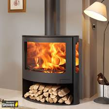 modern multi fuel stoves iris 10kw curved 3 sided contemporary multi fuel wood burning
