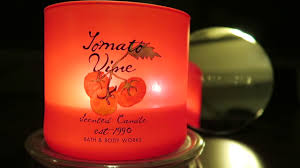 Tomato Vine Candle Review Bath & Body Works White Barn
