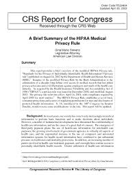Halloween Mad Libs Pdf by A Brief Summary Of The Hipaa Medical Privacy Rule Digital Library