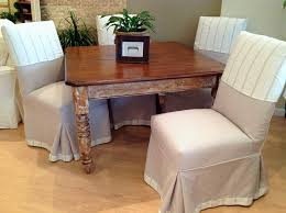 Parsons Chair Slipcovers Dining Room Farmhouse With Banding Cream And Taupe Custom Distressed Finish Table1