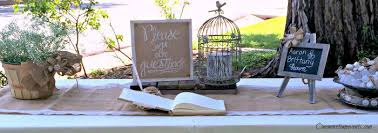 Rustic Outdoor Wedding Guest Sign In Table With Burlap Runnter Chalkboard Apple Bucket Filled