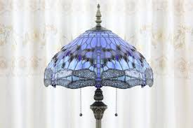 Overstock Tiffany Floor Lamps by Lake Blue Tiffany Style Dragonfly Floor Lamp Parrotuncle