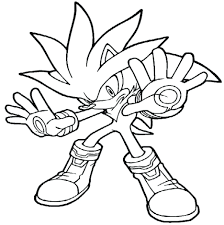 Coloring Pages Sonic Pictures Free And Shadow Printable Print Boy Hedgehog