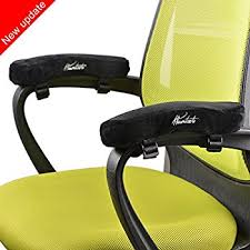 Desk Chair With Arms And Wheels by Amazon Com Memory Foam Arm Chair Pads Polyester Fabric High