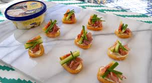 cucumber canapes fig prosciutto and cucumber canapés eat