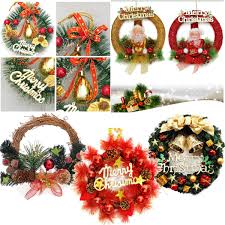 Christmas Xmas Wreath Hanging Party Ornament Door Window Home