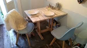 esstisch klein küche shabby chic vintage holz echtholz weiss