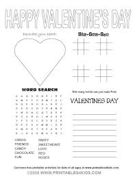 Valentines Day Party Activity Sheet Printables For Kids Free Word Search Puzzles Coloring