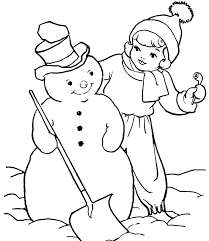 Snowman Coloring Pages For Kids Free