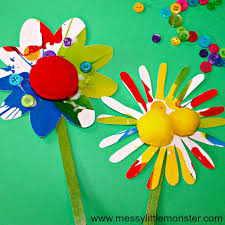 Rainbow Spin Art Flowers An Easy Spring Or Summer Craft For Kids Toddlers And