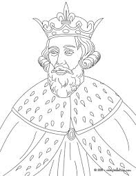 KING ALFRED THE GREAT Coloring Page