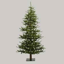 7 Pre Lit Minnesota Alpine Style Half Wall Christmas Tree