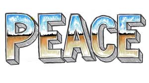 How to Draw PEACE 3D 3D Block Letters PEACE with Chrome Letter
