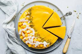no bake mango cake