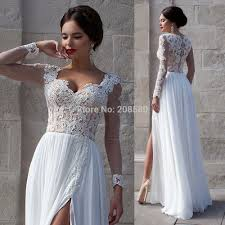 long white lace wedding dress cositur com