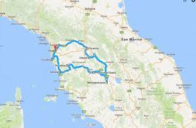 Road Trip Tuscany In 14 Daysnbsp Map