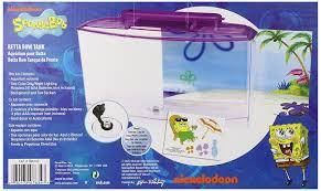 Spongebob Aquarium Decor Set by Amazon Com Penn Plax Spongebob U0027s Large Betta Aquarium Tank