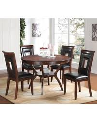 Acme Furniture Oswell 5 Piece Round Dining Table Set