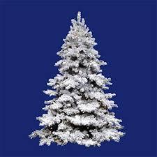 Amazon Vickerman 65 Pre Lit Flocked Alaskan Artificial Christmas Tree