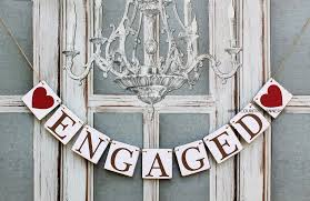 ENGAGED SIGNS Engagement BANNERS Rustic Wedding