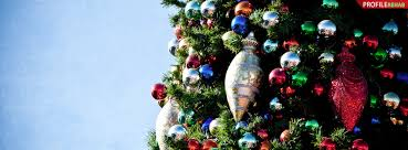 Christmas Tree Ornaments Facebook Cover